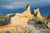 Badlands sandstone formations, Theodore Rossevelt National Park, North Dakota