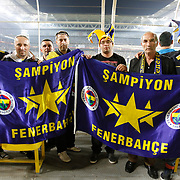 Fenerbahce's Supporters during their UEFA Europa League Semi Final first match Fenerbahce between Benfica at Sukru Saracaoglu stadium in Istanbul Turkey on Thursday 25 April 2013. Photo by Aykut AKICI/TURKPIX