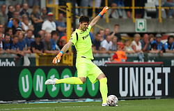 July 22, 2018 - Brugge, BELGIUM - Club's goalkeeper Karlo Letika pictured in action during a soccer game between Club Brugge and Standard de Liege, the supercup match between the respective champion of the Jupiler Pro League and the Belgian cup winner, Sunday 22 July 2018, in Brugge. BELGA PHOTO VIRGINIE LEFOUR (Credit Image: © Virginie Lefour/Belga via ZUMA Press)