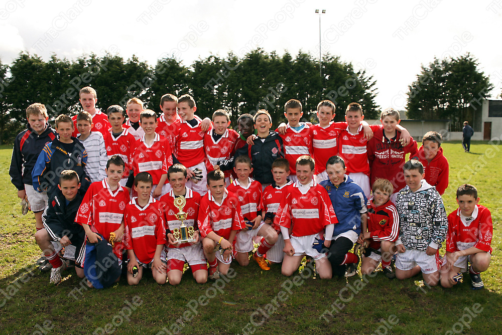 Eire Og celebrate after beating Kilrush during their Feile Final clash in Coolmeen on Sunday afternoon.<br /> Photograph by Yvonne Vaughan