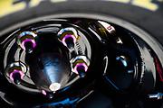 May 20, 2017: NASCAR Monster Energy All Star Race. Lug nuts on a Goodyear Tire