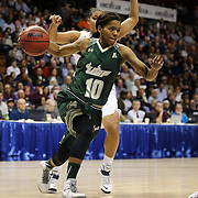 Courtney Williams, USF, in action during the UConn Huskies Vs USF Bulls Basketball Final game at the American Athletic Conference Women's College Basketball Championships 2015 at Mohegan Sun Arena, Uncasville, Connecticut, USA. 9th March 2015. Photo Tim Clayton
