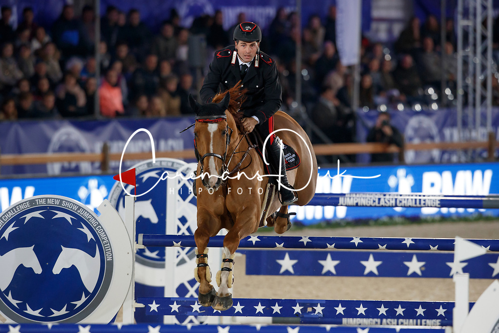 Gaudiano Emanuele, ITA, Chalou<br /> Accenture Jumpingclash Challenge<br /> presented by BMW<br /> Jumping Antwerpen 2017<br /> © Hippo Foto - Dirk Caremans<br /> 21/04/2017