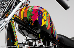 """""""Peter Max"""" custom bike built by Arlen Ness in Dublin, CA, October 12, 2004, photographed by Michael Lichter in Dublin, CA. ©2004 Michael Lichter"""