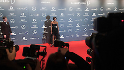 © Licensed to London News Pictures. 06/02/2012. London, UK. Former athlete Denise Lewis OBE arriving on the red carpet for the Laureus World Sports Awards 2012. Dozens of sports and Hollywood celebrities arrived in the English capital to attend the event held at the Queen Elizabeth II Conference Centre in the same year that London will host the Olympic Games. Photo credit : Ben Cawthra/LNP