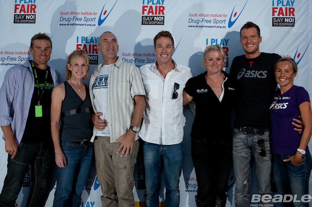 Top world-class triathletes gathered for a q&a session in Cape Town in support of drug-free sport and I play fair. Images by Beadle Photo