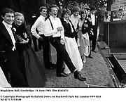 Magdalene Ball, Cambridge. 15 June 1983. film 83414f31<br />© Copyright Photograph by Dafydd Jones<br />66 Stockwell Park Rd. London SW9 0DA<br />Tel 0171 733 0108
