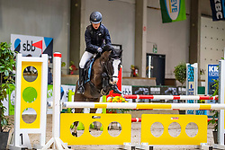 Van Hoeck Sam, BEL, Olala de Keizer<br /> Nationaal Indoor Kampioenschap Pony's LRV <br /> Oud Heverlee 2019<br /> © Hippo Foto - Dirk Caremans<br /> 09/03/2019