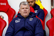 Wimbledon Assistant Glynn Hodges during the EFL Sky Bet League 1 match between Sunderland and AFC Wimbledon at the Stadium Of Light, Sunderland, England on 2 February 2019.