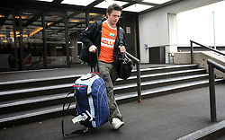 Dejan Varl at Slovenian National team packing and going from Citadel Hotel to the Halifax airport, when they finished with games at IIHF WC 2008 in Halifax, on May 11, 2008, Canada. (Photo by Vid Ponikvar / Sportal Images)