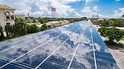 Solar Panel Covered Parking Garage at Kiwanis Park in Stuart, FL