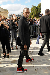File photo dated September 28, 2012 Kanye West arriving for the Christian Dior Spring-Summer 2013 Ready-To-Wear collection show held at Hotel National des Invalides, in Paris, France. US rapper Kanye West took to Twitter over the weekend to announce he was running for president, with his declaration quickly going viral and prompting a flurry of speculation. His wife Kim Kardashian West and entrepreneur Elon Musk endorsed him. Photo by Alban Wyters/ABACAPRESS.COM