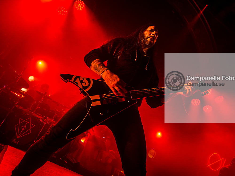 STOCKHOLM, SWEDEN - MARCH 20: Niclas Engelin of In Flames performs at Berns on March 20, 2017 in Stockholm, Sweden. (Photo by MICHAEL CAMPANELLA/Getty Images)