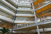 Interior image of glass instalation at Whittle School in Washington DC by Jeffrey Sauers of CPI Productions