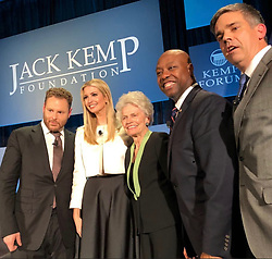 "Ivanka Trump releases a photo on Instagram with the following caption: ""Last night with Senator Scott, Sean Parker and the @kempfoundation family discussing how we can empower and uplift distressed urban + rural communities across America through #OpportunityZones!"". Photo Credit: Instagram *** No USA Distribution *** For Editorial Use Only *** Not to be Published in Books or Photo Books ***  Please note: Fees charged by the agency are for the agency's services only, and do not, nor are they intended to, convey to the user any ownership of Copyright or License in the material. The agency does not claim any ownership including but not limited to Copyright or License in the attached material. By publishing this material you expressly agree to indemnify and to hold the agency and its directors, shareholders and employees harmless from any loss, claims, damages, demands, expenses (including legal fees), or any causes of action or allegation against the agency arising out of or connected in any way with publication of the material."
