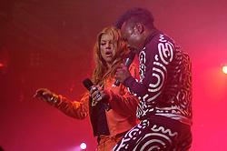Fergie (E) e Taboo durante o show da banda Black Eyed Peas, no audito?rio da FIERGS, em Porto Alegre-RS. FOTO: Luiz A. Guerreiro/Preview.com