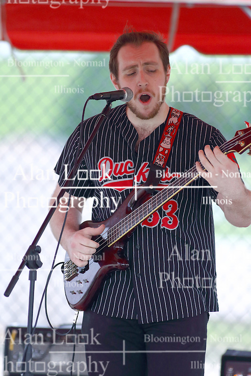 13 May 2016: Alex and the XO's perform before the opening night for CornBelters baseball at the CornCrib in Normal Il.<br /> <br /> Members: Alexandra Fisher- lead vocals, ukulele, guitar / Trenton Perry- mandolin / Storm Angone- bass, vocals / Joe Brandenburger- drums<br /> Genre: Indie Pop/Alternative<br /> Hometown: Normal, IL