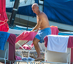 EXCLUSIVE: West Brom's manager Tony Pulis is spotted on the beach in Barbados. 07 Nov 2017 Pictured: Tony Pulis. Photo credit: Chris Brandis-Islandpaps.com/MEGA TheMegaAgency.com +1 888 505 6342