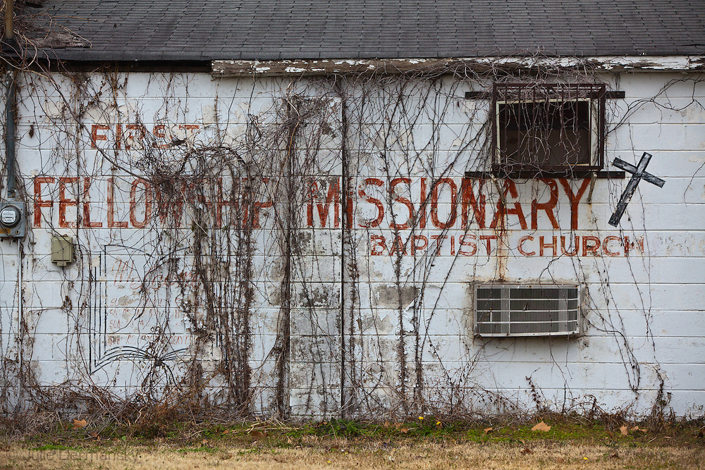 Blighted church in Baton Rouge,