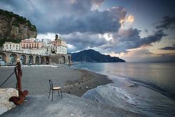 Sunrise, Atrani, Italy.  A morning thunderstorm adds character to the Amalfi sky.