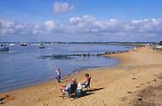 AYBPC4 Bawdsey Quay beach River Deben mouth Suffolk England