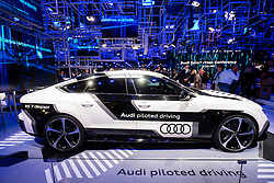 Prototype Audi RS-7 self driving car at Paris Motor Show 2016
