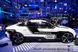 Prototype Audi RS-7 self driving car at Paris Motor Show 2016
