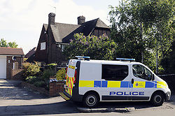 © Licensed to London News Pictures. 21/05/2015<br /> Met police search teams arriving early this morning (21.05.2015) at the Dartford home of Brian and Paul Reader.<br /> Eight men, including two from Kent, have been charged in connection with the multimillion pound jewellery heist at Hatton Garden.<br /> <br />  Brian Reader and his son Paul Reader both of Dartford Road, Dartford,Kent have been charged with conspiracy to burgle.  <br /> <br />  <br /> (Byline:Grant Falvey/LNP)