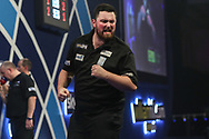 Luke Humphries wins the fourth set and celebrates during the World Darts Championships 2018 at Alexandra Palace, London, United Kingdom on 28 December 2018.