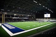 """The Dallas Cowboys practice in The Ford Center at The Star in Frisco, Texas on August 23, 2016. The Cowboys will share The Ford Center with Frisco ISD for various school functions and sporting events. """"CREDIT: Cooper Neill for The Wall Street Journal""""<br /> TX HS Football sponsorships"""