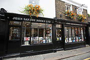Exterior of John Sandoe bookshop on 19th October 2015 in London, United Kingdom. Independent bookshop since 1957, crammed with thousands of fiction, non-fiction and classic titles