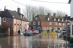 ©Licensed to London News Pictures 22/12/2019. <br /> Yalding ,UK.Village Lees Road. The River Medway and River Beult have bursts their banks causing severe flooding in Yalding village,Kent. Photo credit: Grant Falvey/LNP