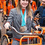 NLD/Den Haag/20180323 - Huldiging Olympische en Paralympische medaillewinnaars, Yara van Kerkhof