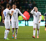 England's Wayne Rooney looks on disbelief at the final whistle<br /> <br /> - International Friendly - Scotland vs England- Celtic Park - Glasgow - Scotland - 18th November 2014  - Picture David Klein/Sportimage