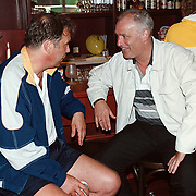 Deurzakkers tennistoernooi Waalwijk, Maarten Spanjer in gesprek met Rene van der Gijp