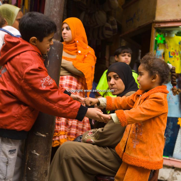 Egypt . Cairo : bazaar market  in Sharia AL Mu'izz LI DIN Allah street south Islamic Cairo