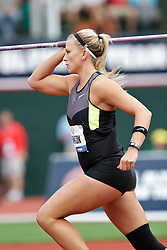 Olympic Trials Eugene 2012: women's Javelin, Kimberley Hamilton, 3rd
