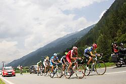 03.07.2012, Osttirol, AUT, 64. Oesterreich Rundfahrt, 3. Etappe, Kitzbuehel - Lienz, im Bild die Fuehrungsgruppe bei Ainet von vorne Georg Preidler (AUT, Team Type 1 - Sanofi), Johann Bagot (FRA, Cofidis, Le Credit en Ligne) Benat Intxausti (ESP, Movistar Team) und Andrea Pasqualon (ITA, Colnago - CSF Inox) // Team Type 1 - Sanofi driver Georg Preidler of Austria, Cofidis, Le Credit en Ligne driver Johann Bagot of France, Movistar Team driver Benat Intxausti of Spain and Colnago - CSF Inox driver Andrea Pasqualon of Italy during the 64rd Tour of Austria, Stage 3, from Kitzbuehel to Lienz, Lienz, Austria on 2012/07/03. EXPA Pictures © 2012, PhotoCredit: EXPA/ Johann Groder