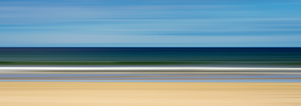 intentional camera movement at the beach