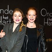 NLD/Amsterdam/20150112 - Film premiere Onder het Hart, Sigrid ten Napel en .......