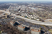 Aerial Photo Showing The Nashville Skyline From Briley Parkway