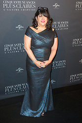 Autor Erika Leonard James attends Fifty Shades Freed world premiere at Salle Pleyel on February 06, 2018 in Paris, France. Photo by Nasser Berzane/ABACAPRESS.COM
