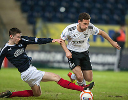 Falkirk's Conor McGrandles and Livingston's Anthony Andreu..Falkirk v Livingston, 19/2/2013..©Michael Schofield.
