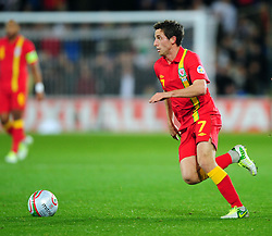 Wales Joe Allen (Liverpool) - Photo mandatory by-line: Joe Meredith/JMP  - Tel: Mobile:07966 386802 12/10/2012 - Wales v Scotland - SPORT - FOOTBALL - World Cup Qualifier -  Cardiff   - Cardiff City Stadium -