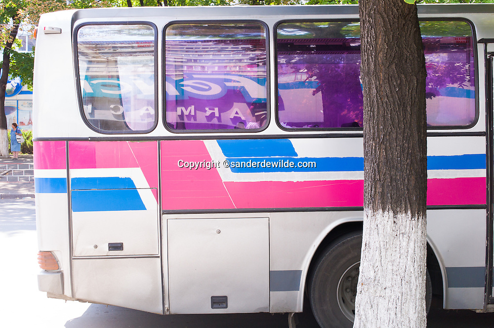 Typochraphy, graphics, colors and industrial design. Visiting Moldova is a joy for the eyes. Bright colored bus.