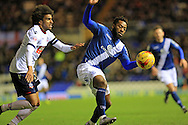 Jacques Maghoma, Derik Osede during the Sky Bet Championship match between Birmingham City and Bolton Wanderers at St Andrews, Birmingham, England on 23 February 2016. Photo by Daniel Youngs.