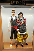 Display of traditional Spanish clothes from Baleares