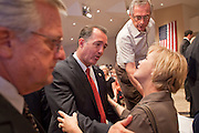 Aug, 25, 2009 -- SUN CITY, AZ: Congressman TRENT FRANKS (R-AZ) walks into the Town Hall meeting on health care sponsored by Sen John McCain at Grace Bible Church in Sun City, AZ, Tuesday. More than 1,000 people attended the meeting in the church, which seats 700. Sun City is a staunchly Republican suburb of Phoenix and most of the crowd was opposed to President Obama health care reform efforts. Photo by Jack Kurtz