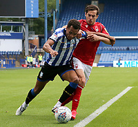 Sheffield Wednesday's Jacob Murphy holds off the challenge from Nottingham Forest's Yuri Ribeiro <br /> <br /> Photographer Rich Linley/CameraSport<br /> <br /> The EFL Sky Bet Championship - Sheffield Wednesday v Nottingham Forest - Saturday 20th June 2020 - Hillsborough - Sheffield <br /> <br /> World Copyright © 2020 CameraSport. All rights reserved. 43 Linden Ave. Countesthorpe. Leicester. England. LE8 5PG - Tel: +44 (0) 116 277 4147 - admin@camerasport.com - www.camerasport.com