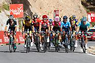 Emanuel Buchmann (GER - Bora - Hansgrohe) - George Bennett (NZL - Team LottoNL - Jumbo) - Ion Izagirre (ESP - Bahrain - Merida) - Michal Kwiatkowski (POL - Team Sky) - Rigoberto Uran (COL - EF Education First - Drapac) - Nairo Quintana (COL - Movistar) - Steven Kruijswijk (NED - Team LottoNL - Jumbo) - Miguel Angel Lopez (COL - Astana Pro Team) during the UCI World Tour, Tour of Spain (Vuelta) 2018, Stage 4, Velez Malaga - Alfacar Sierra de la Alfaguara 161,4 km in Spain, on August 28th, 2018 - Photo Luca Bettini / BettiniPhoto / ProSportsImages / DPPI